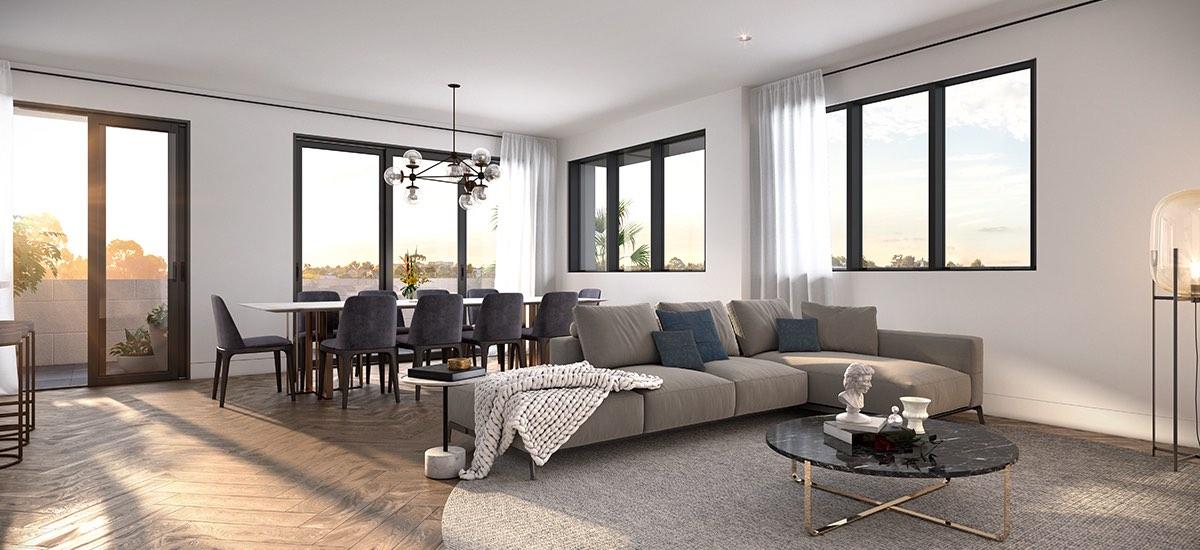 highett house apartment development living room