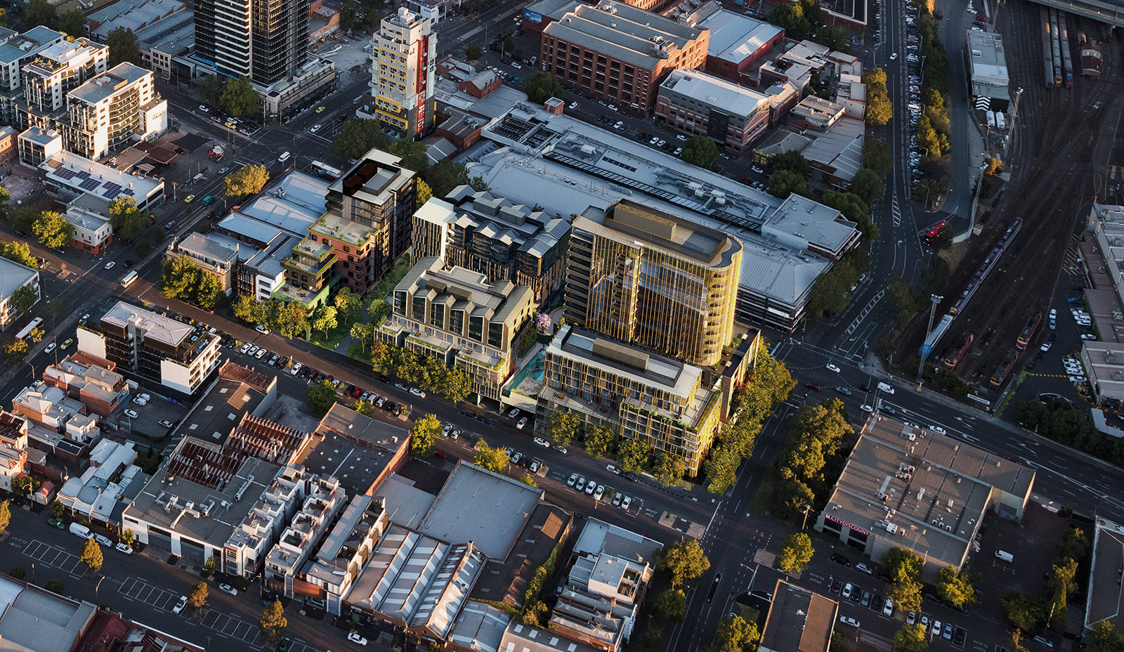 Masterplan of the West End Apartments in melbourne