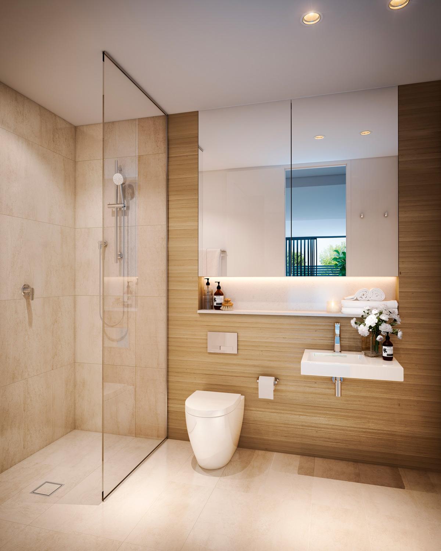 mckinnon living off the plan apartment bathroom design