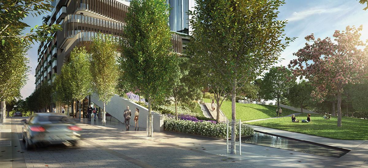 Melbourne Square exterior parks