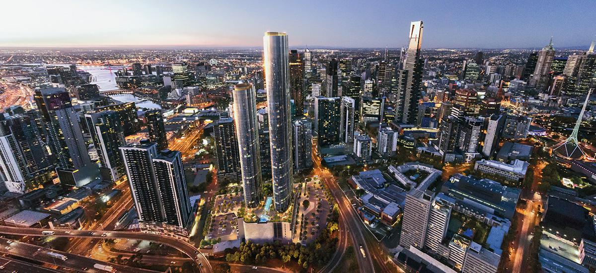 Melbourne Square aerial view