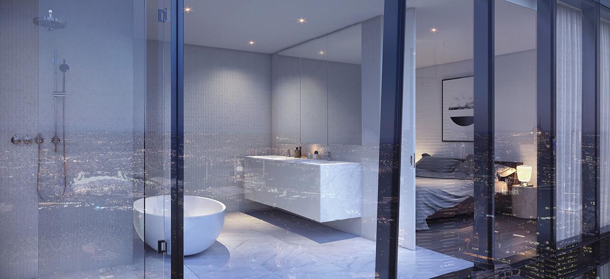 melbourne square apartment development off the plan bedroom bathroom