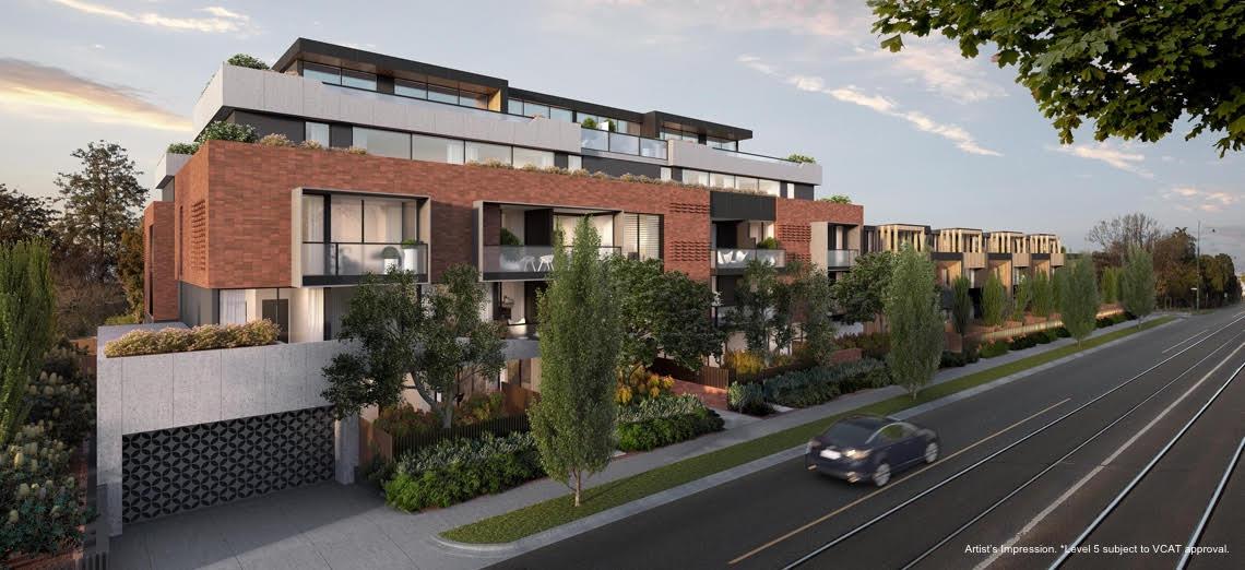 mont albert apartment development