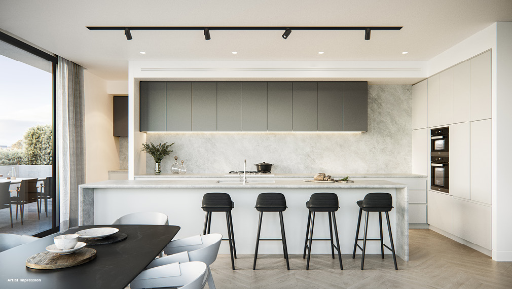 pelham armadale apartment kitchen luxury