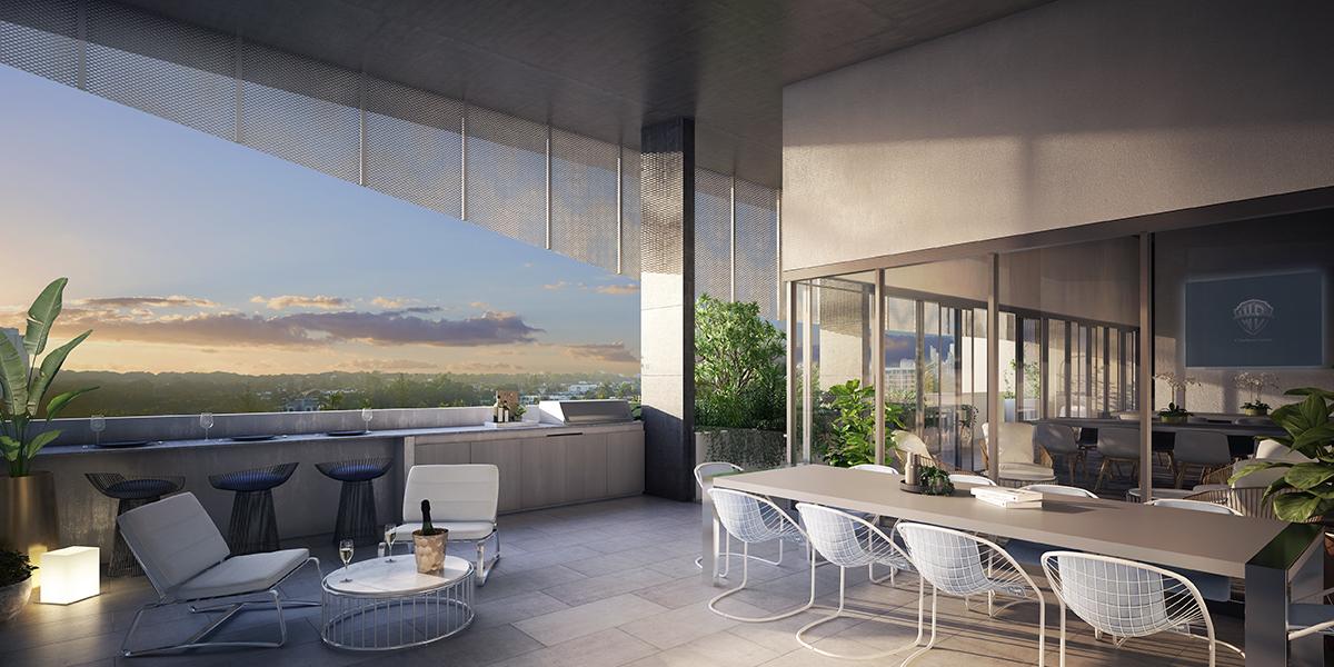 peninsular residences balcony terrace apartment development gold coast