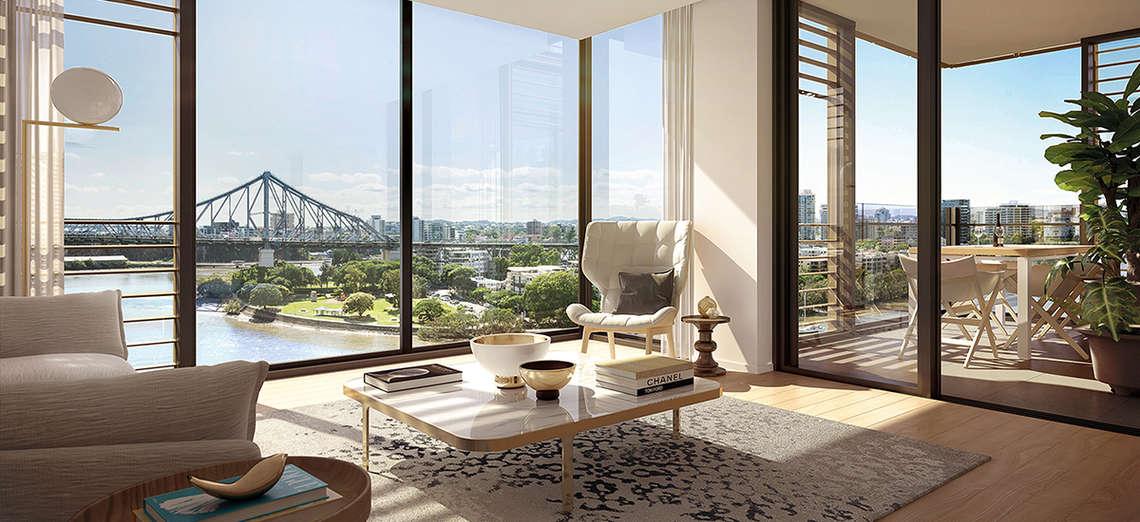 443 queen street brisbane apartment off the plan development city view