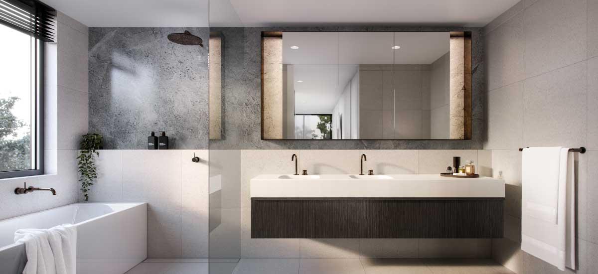 the woods apartment developmen bathroom luxury pamper room
