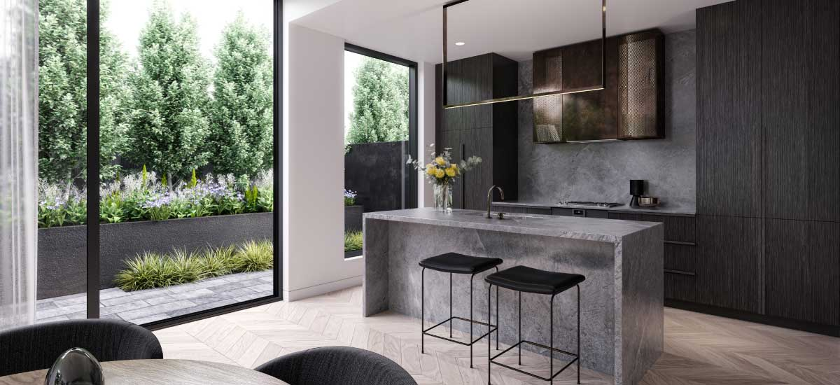 the woods apartment development kitchen melbourne off the plan