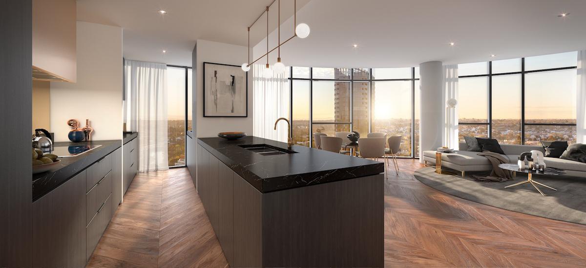 Yarra One penthouse kitchen