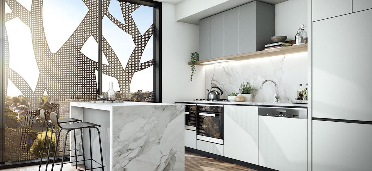 Sturt St Parque apartment kitchen
