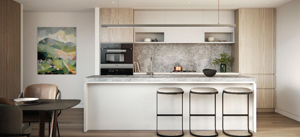 Surrey Gardens off plan apartment kitchen
