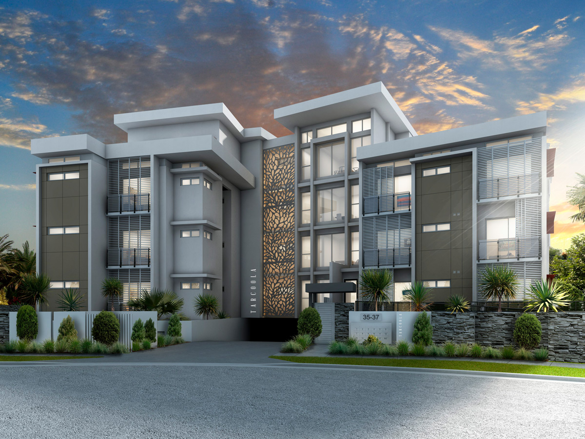Tarcoola River Residences apartment exterior in Surfers Paradise Queensland