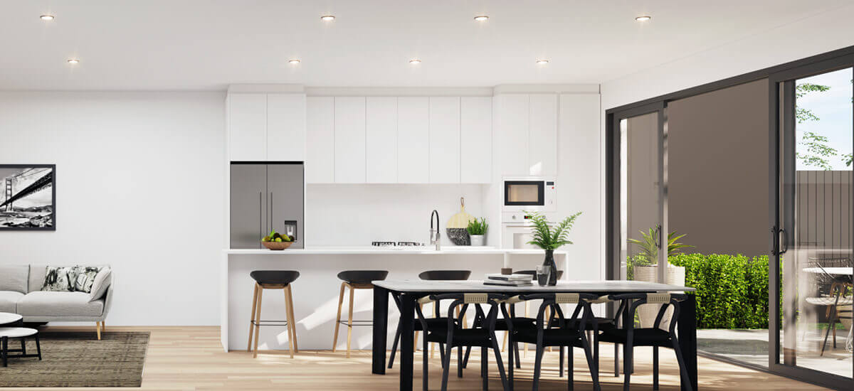 A beautiful modern kitchen in the Terrace apartment in Keilor East Victoria