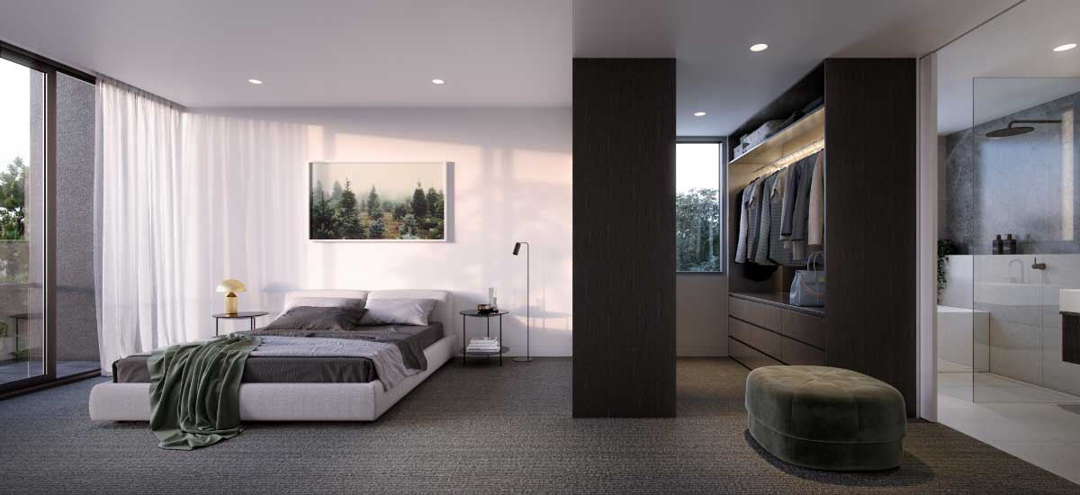 off plan apartment for sale The Woods bedroom in North Balwyn