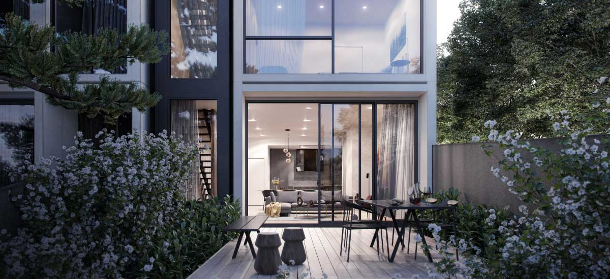 off plan apartment for sale The Woods courtyard in North Balwyn