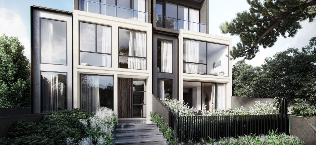 off plan apartment for sale The Woods building exterior in North Balwyn
