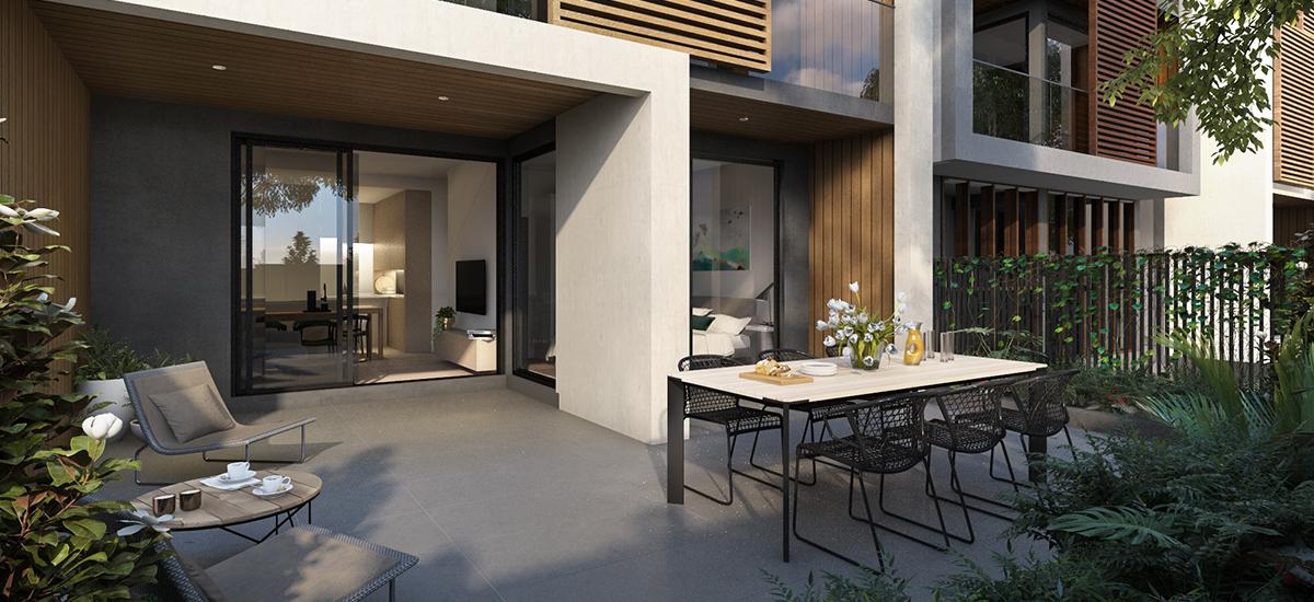 Trio courtyard