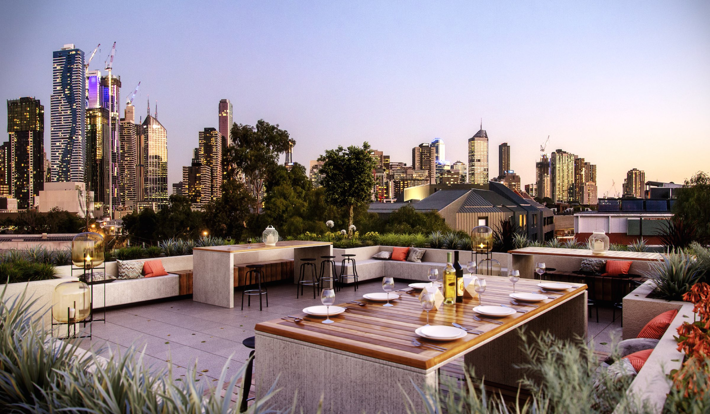 Twenty Two Courtney Apartment rooftop
