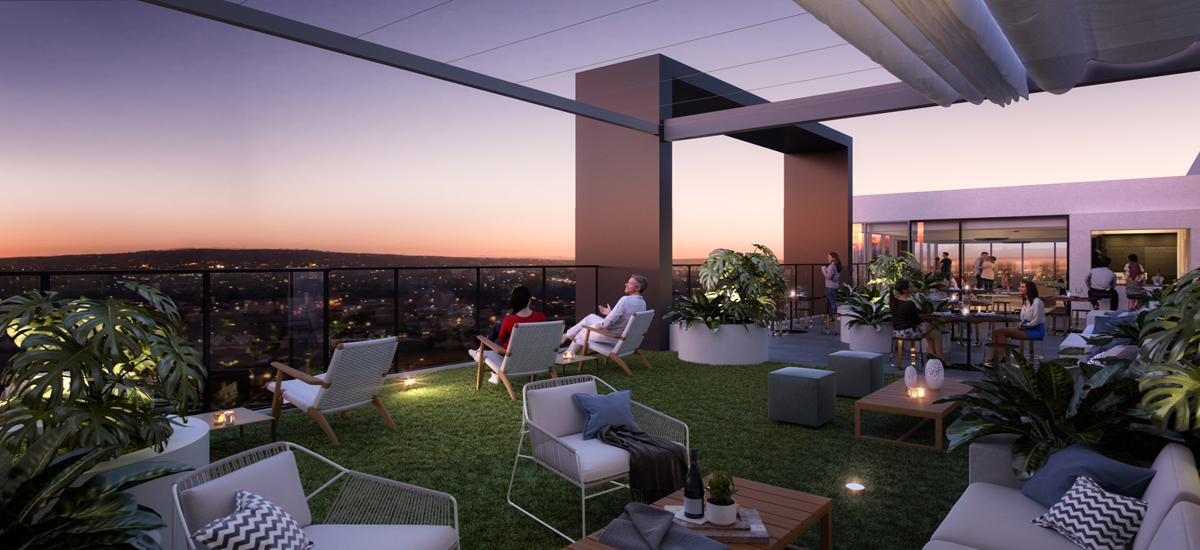 off the plan apartment for sale West Franklin rooftop