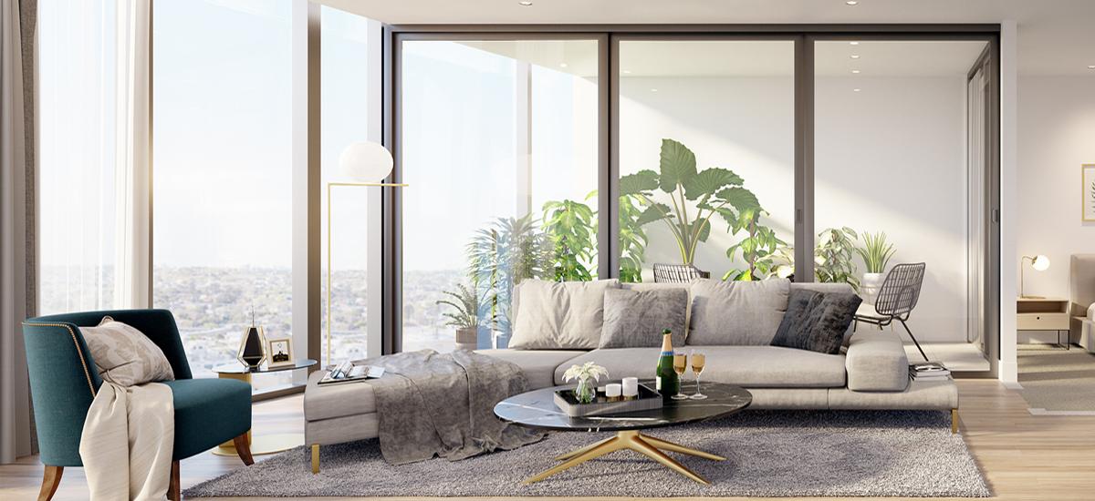 Yarra One living room